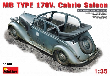 MiniArt 1/35 Scale - MB TYPE 170V Cabrio Saloon