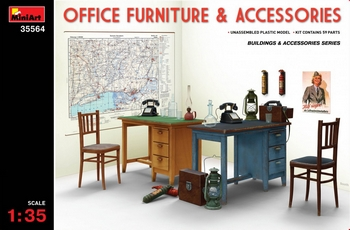 MiniArt 1/35 Scale - Office Furniture & Accessories