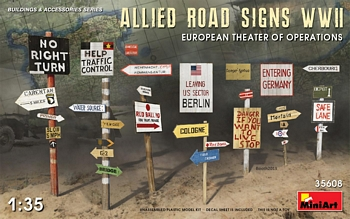 MiniArt 1/35 Scale - Allied Road Signs WWII ETO