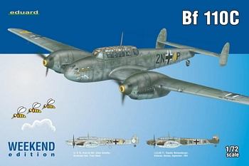 Eduard 1/72 Scale - Bf 110C Weekend Edition