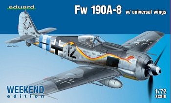 Eduard 1/72 Scale - FW 190A-8 W/ Universal Wings Weekend Edition