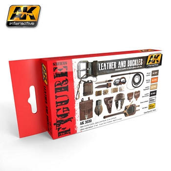 AK Interactive Leather and Buckles Colours