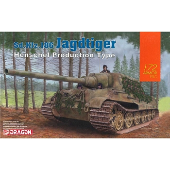 Dragon 1/72 Scale - Jagdtiger - Henschel Production Type